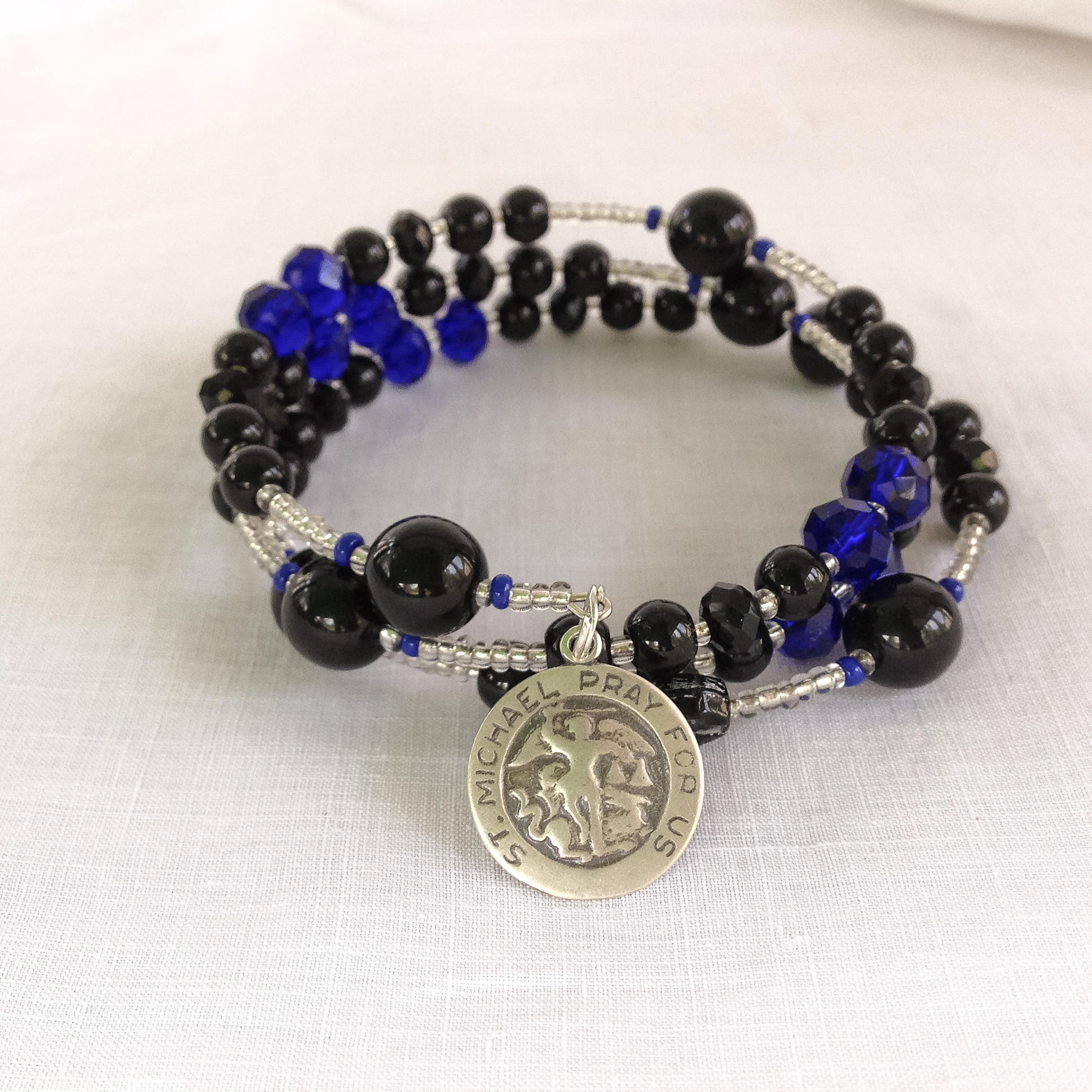 Thin Blue Line Wrap Around A Rosary Peters Square