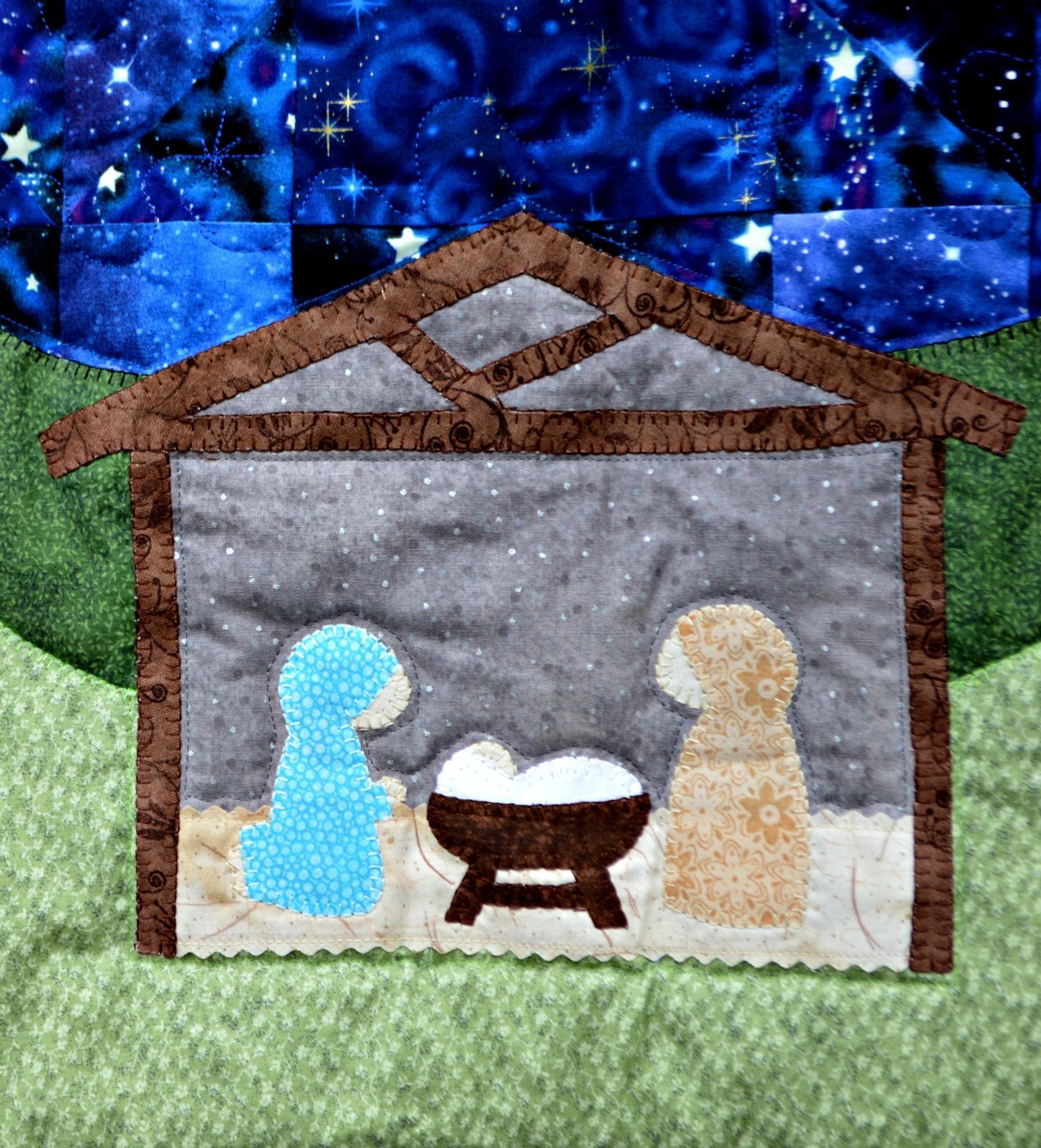 Quilt Pattern Silent Night Christmas Nativity Quilt