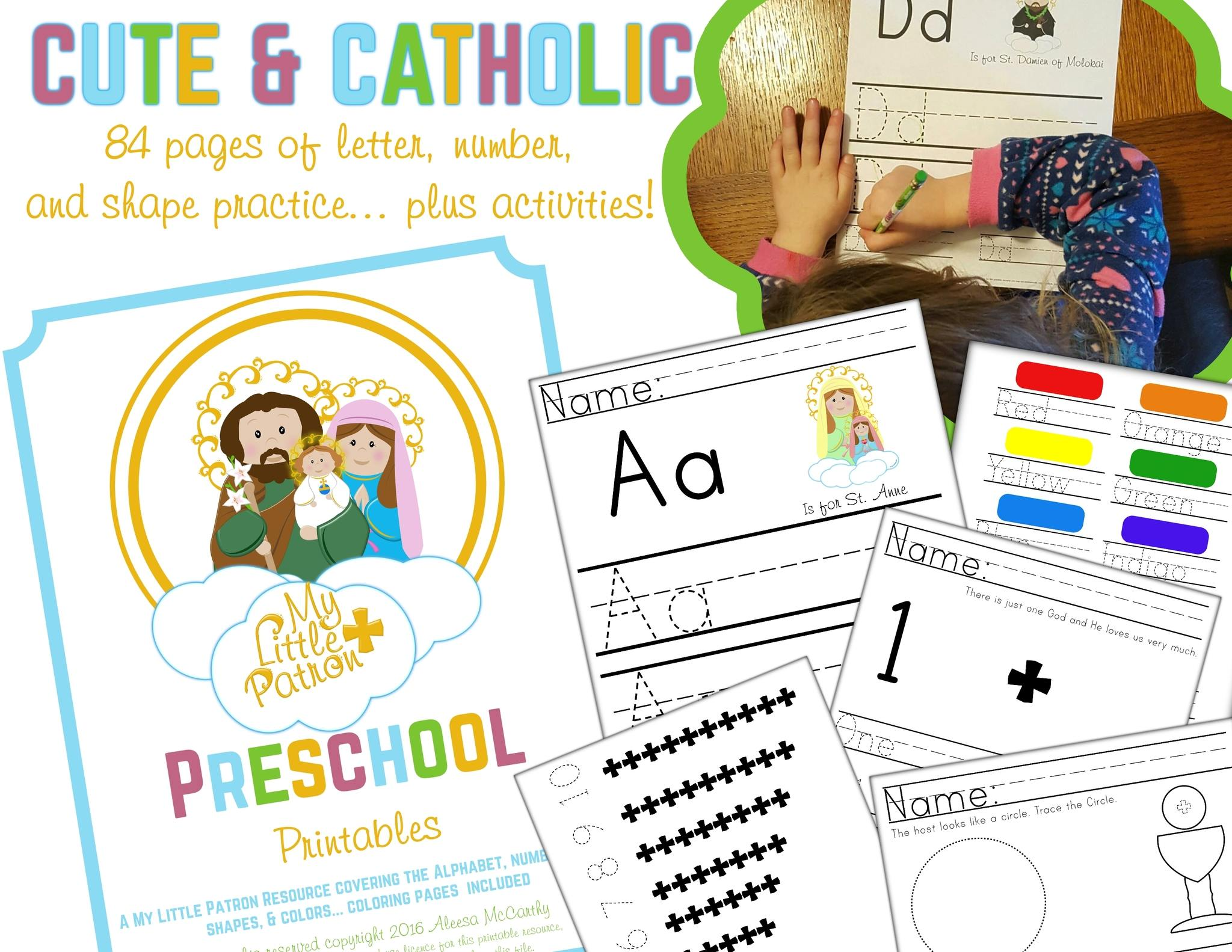 picture relating to Catholic Printable Activities named Catholic Preschool Printables