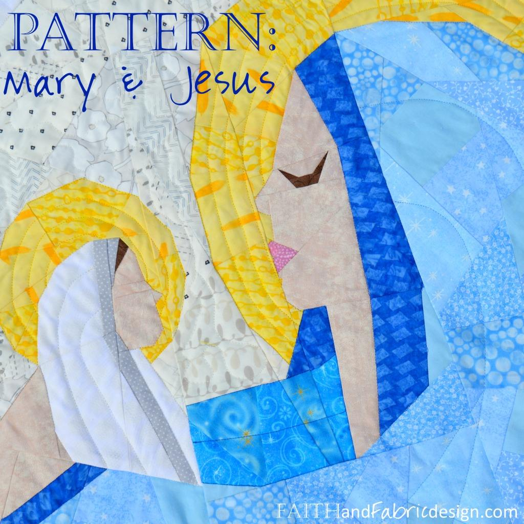 Christmas Quilt Patterns.Mary And Jesus A Mother And Child Christian Nativity Christmas Quilt Pattern