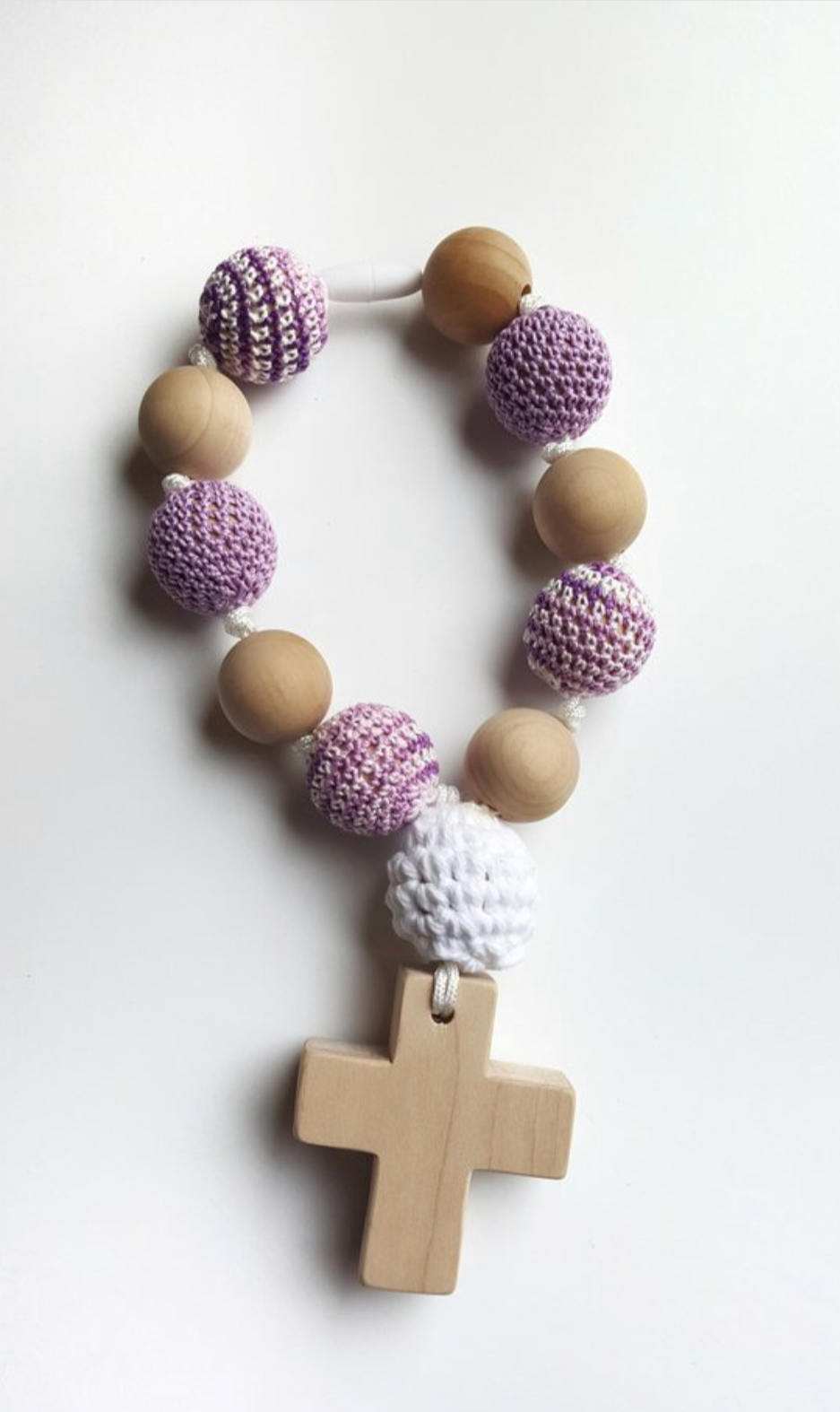 Wood And Crochet Teething Rosary Decade Peter S Square
