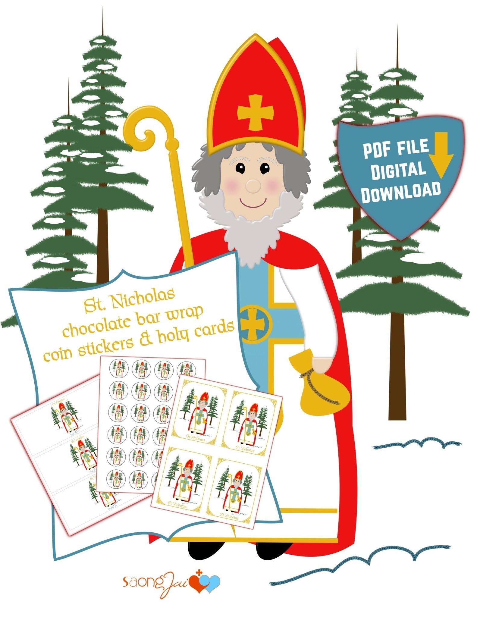 graphic regarding St Nicholas Prayer Printable named St. Nicholas Printable PDF